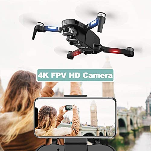 51WSojvujMS. AC  - 4DRC F4 GPS Drone with 4K Camera for Adults,2-Axis gimbal Anti-shake Camera HD FPV Live Video,Brushless Motor RC Quadcopter, Auto Return,Follow Me,Waypoint Fly,Headless Mode,Carrying Case