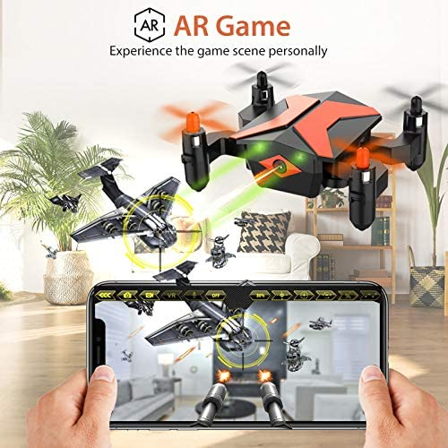 51cCiFBHAdL. AC  - Mini Drone with Camera for KidsBeginners, Foldable Pocket RC Quadcopterwith App Gravity Voice Control Trajectory Flight, FPV Video, Altitude Hold, Headless Mode, 360°Flip, Toys Gifts for Boys Girls