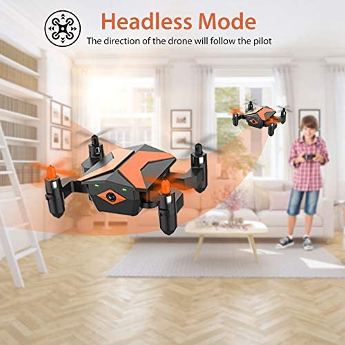51fVMPjmdwL. AC  - Mini Drone with Camera for KidsBeginners, Foldable Pocket RC Quadcopterwith App Gravity Voice Control Trajectory Flight, FPV Video, Altitude Hold, Headless Mode, 360°Flip, Toys Gifts for Boys Girls
