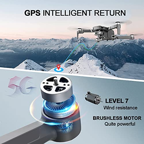 51h2W6bDcrS. AC  - 4DRC F4 GPS Drone with 4K Camera for Adults,2-Axis gimbal Anti-shake Camera HD FPV Live Video,Brushless Motor RC Quadcopter, Auto Return,Follow Me,Waypoint Fly,Headless Mode,Carrying Case