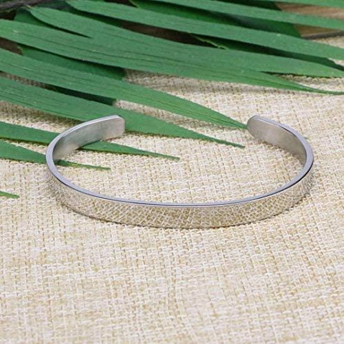 51hN0XYa9aL. AC  - Joycuff Bracelets for Women Personalized Inspirational Jewelry Mantra Cuff Bangle Friend Encouragement Gift for Her