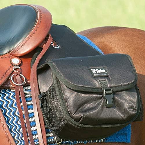 51hUTVAbzGL. AC  - Cashel Quality Deluxe Horse Saddlebag, Padded Pockets Color: Black