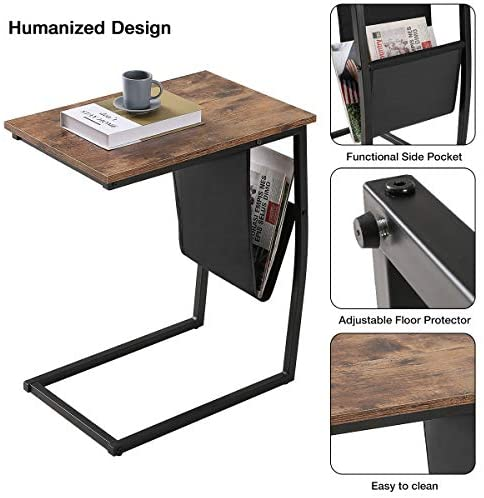 51iIwfBSjsL. AC  - Bonzy Home Snack Side Table with Storage C Shaped End Table for Sofa Couch,Living Room,Bedroom & Small Spaces