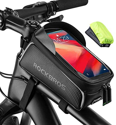 """51m6jhTpNRL. AC  - ROCKBROS Top Tube Bike Bag Waterproof Bicycle Bag Touch Screen Bike Pouch Bike Cell Phone Holder Cycling Accessories for iPhone 12 11 7 8 Plus Xs Max Below 6.7"""""""