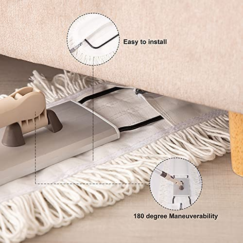 """51vmtY1z3AS. AC  - Eyliden 36"""" Professional Industrial Mop, Commercial Cotton Dust Mops Broom, Telescopic Handle Residential Commercial Floor Cleaning Tools for Home Mall Hotel Office Garage (White, 36"""")"""