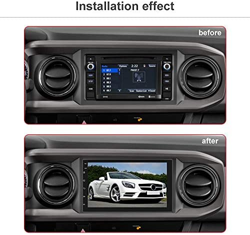 51yXktmVX7L. AC  - Double Din Android Car Stereo with GPS 7 Inch Touch Screen Car Radio Bluetooth Supports Mirror Link for iOS/Android Phones WiFi Connect + Backup Camera