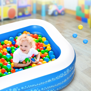 """53dba172 67d6 4309 adae d4e0bae8edd6.  CR0,0,300,300 PT0 SX300 V1    - Inflatable Pool, Hesung 117"""" X 69""""X 21"""" Family Swimming Pool for Kids, Toddlers, Infant, Adult, Full-Sized Inflatable Blow Up Kiddie Pool for Ages 3+, Outdoor, Garden, Backyard, Summer Swim Center"""