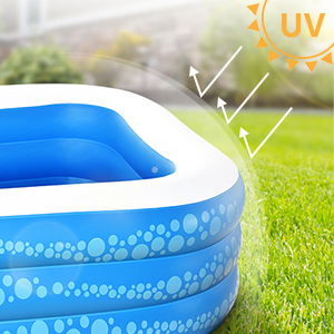 """5826657e ab35 4c2d 9666 c68b1b66adde.  CR0,0,300,300 PT0 SX300 V1    - Inflatable Pool, Hesung 117"""" X 69""""X 21"""" Family Swimming Pool for Kids, Toddlers, Infant, Adult, Full-Sized Inflatable Blow Up Kiddie Pool for Ages 3+, Outdoor, Garden, Backyard, Summer Swim Center"""