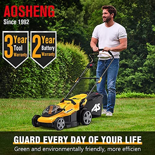 61Dz5KarnoS. AC  - AS 40V 16'' Cordless Lawn Mower with 5Ah Battery and Charger ,3-in-1 Electric Lawn Mower, 7 Adjustable Heights,Can Work for up to 100 Minutes,Ideal for Revitalizing Small to Mid-Sized Lawn…
