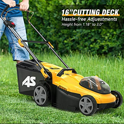 61vwNzai1LS. AC  - AS 40V 16'' Cordless Lawn Mower with 5Ah Battery and Charger ,3-in-1 Electric Lawn Mower, 7 Adjustable Heights,Can Work for up to 100 Minutes,Ideal for Revitalizing Small to Mid-Sized Lawn…