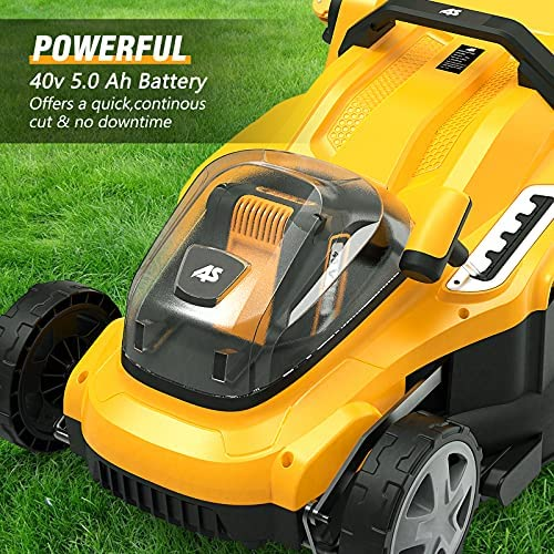 61xro P0bNS. AC  - AS 40V 16'' Cordless Lawn Mower with 5Ah Battery and Charger ,3-in-1 Electric Lawn Mower, 7 Adjustable Heights,Can Work for up to 100 Minutes,Ideal for Revitalizing Small to Mid-Sized Lawn…