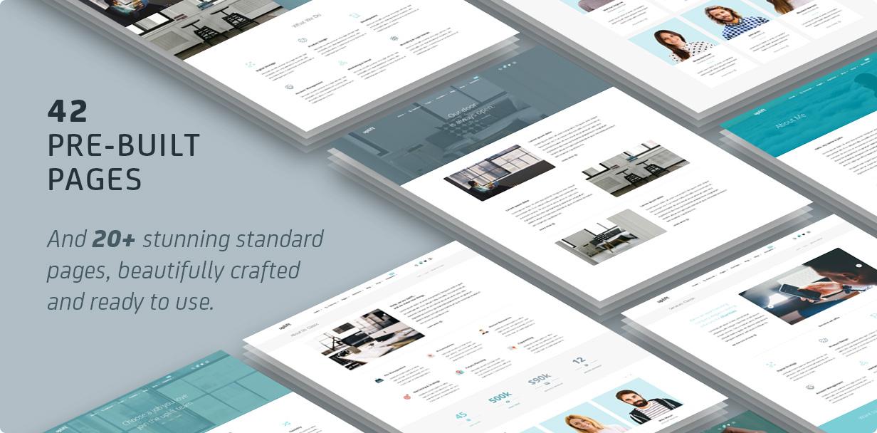 7 pages - Uplift - Responsive Multi-Purpose WordPress Theme