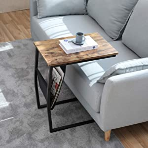 85d3ae9d e444 4853 842c c160cf301841.  CR109,69,1091,1091 PT0 SX300 V1    - Bonzy Home Snack Side Table with Storage C Shaped End Table for Sofa Couch,Living Room,Bedroom & Small Spaces