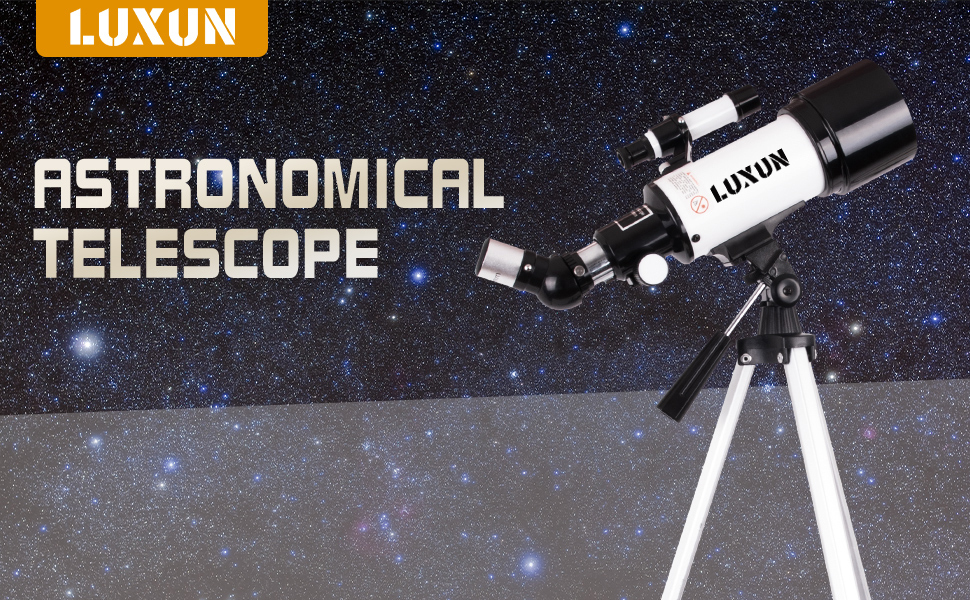 884198f8 849a 4891 b2dc 624a4369f27c.  CR0,0,970,600 PT0 SX970 V1    - LUXUN Telescope for Astronomy Beginners Kids Adults, 70mm Aperture 400mm Astronomical Refracting Portable Telescope - Travel Telescope with Phone Adapter Carry Bag