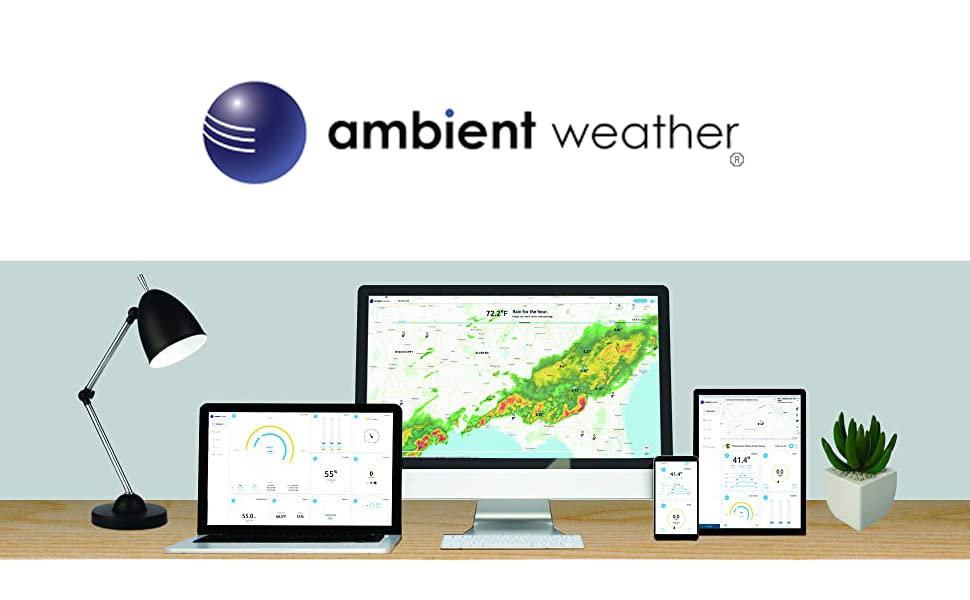 8e6b3bb7 73c4 4699 9962 bad982e69222.  CR265,0,970,600 PT0 SX970 V1    - Ambient Weather WS-2801A Advanced Wireless Color Forecast Station w/Temperature, Humidity, Barometer