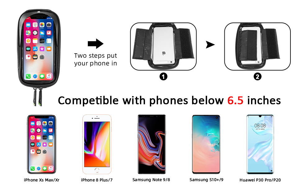 """9887e414 715b 4bf6 956b 7db37f75c061.  CR0,0,970,600 PT0 SX970 V1    - ROCKBROS Top Tube Bike Bag Waterproof Bicycle Bag Touch Screen Bike Pouch Bike Cell Phone Holder Cycling Accessories for iPhone 12 11 7 8 Plus Xs Max Below 6.7"""""""