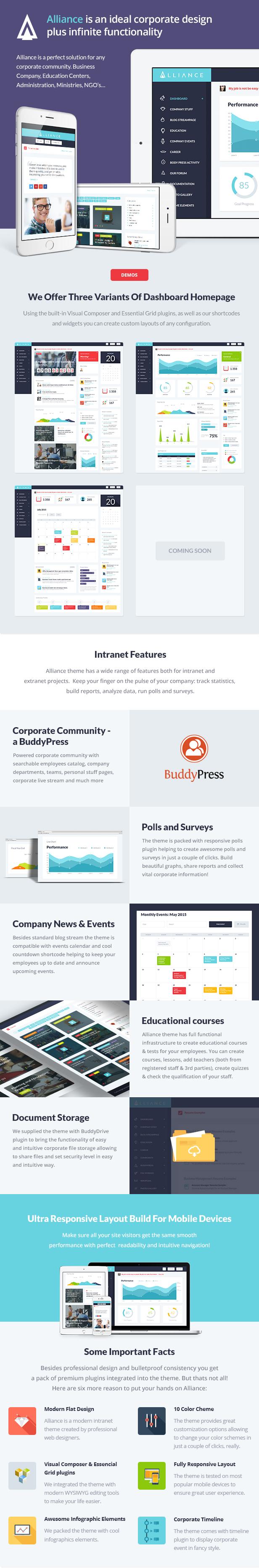 Alliance dscr new - Alliance   Intranet & Extranet WordPress Theme