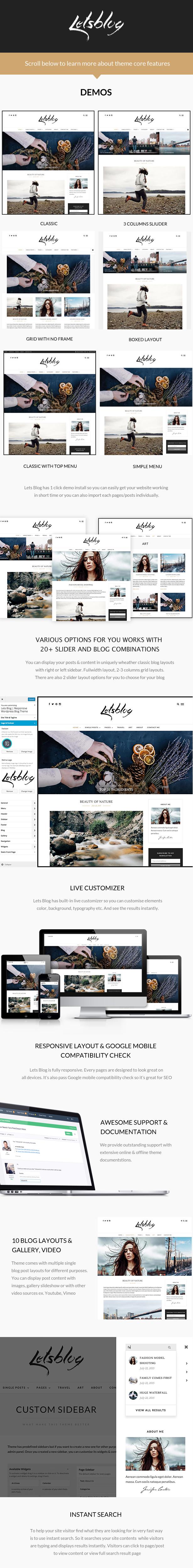 LetsBlogFeatures - Lets Blog WordPress