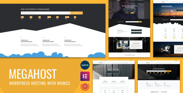 Megahost.  large preview - Hosting WordPress theme with WHMCS - MegaHost