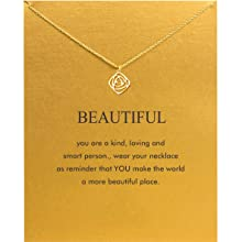 a4ddda71 8b90 4201 b649 cf9b435fd651.  CR0,0,1188,1188 PT0 SX220 V1    - Baydurcan Friendship Anchor Compass Necklace Good Luck Elephant Pendant Chain Necklace with Message Card Gift Card