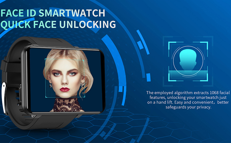 """b3272546 3277 4e92 8577 9d6f3e8e069f.  CR0,0,970,600 PT0 SX970 V1    - TICWRIS Andriod Smart Watch, GPS Android Smartwatch, 4G LTE with 2.86"""" Touch Screen, Face Unclok Phone Watch with 2880mAh Battery, IP67 Waterproof Sport Watch,3GB+32GB Andriod Watch for Men (Black)"""