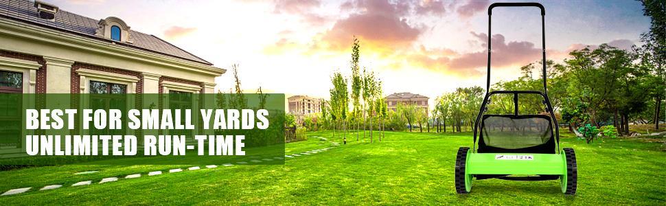 b7cbc281 2c94 4326 8665 bb82bbbf5525.  CR0,0,970,300 PT0 SX970 V1    - Olenyer 16-Inch Quiet Cut Push Reel Lawn Mower with 5-Blade Push Reel,Green