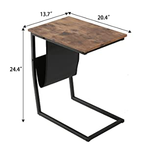 bb2f2bed acda 4faa 9c8f 4595c762b4d3.  CR87,112,1364,1364 PT0 SX300 V1    - Bonzy Home Snack Side Table with Storage C Shaped End Table for Sofa Couch,Living Room,Bedroom & Small Spaces