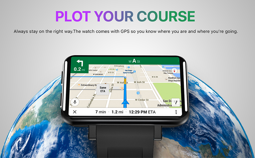 """c3c8be2b 6c81 45e3 b00c 76f1d59d86b6.  CR0,0,970,600 PT0 SX970 V1    - TICWRIS Andriod Smart Watch, GPS Android Smartwatch, 4G LTE with 2.86"""" Touch Screen, Face Unclok Phone Watch with 2880mAh Battery, IP67 Waterproof Sport Watch,3GB+32GB Andriod Watch for Men (Black)"""