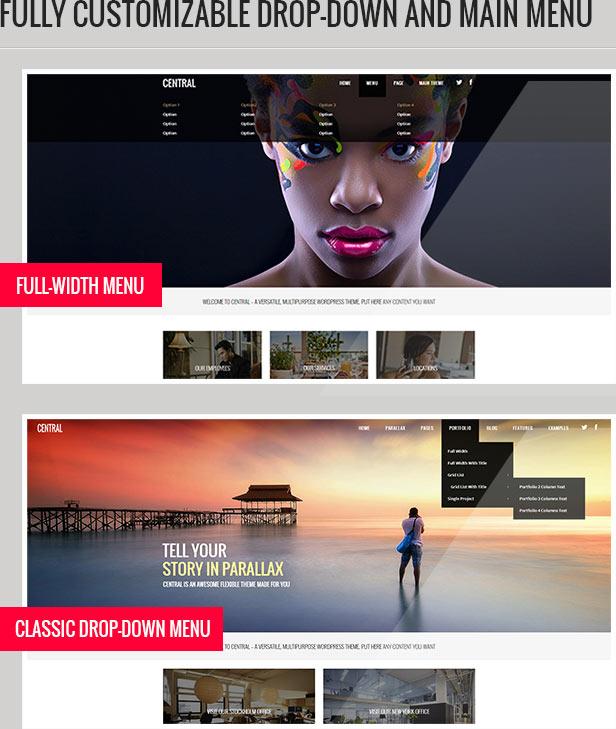 central description 1 - Central - Versatile, Multi-Purpose WordPress Theme