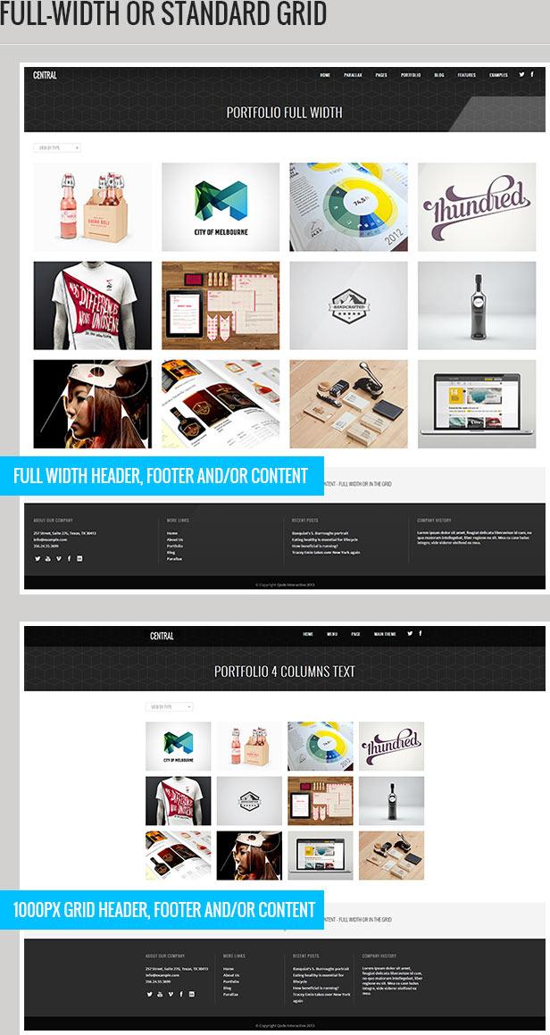 central description 2 - Central - Versatile, Multi-Purpose WordPress Theme