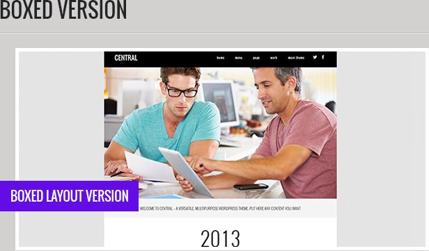 central description 4 - Central - Versatile, Multi-Purpose WordPress Theme
