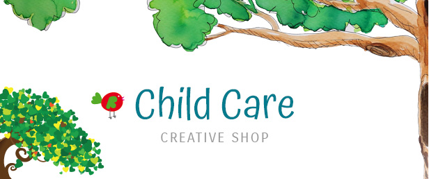 child care creative title - Child Care Creative - WordPress Shop Theme