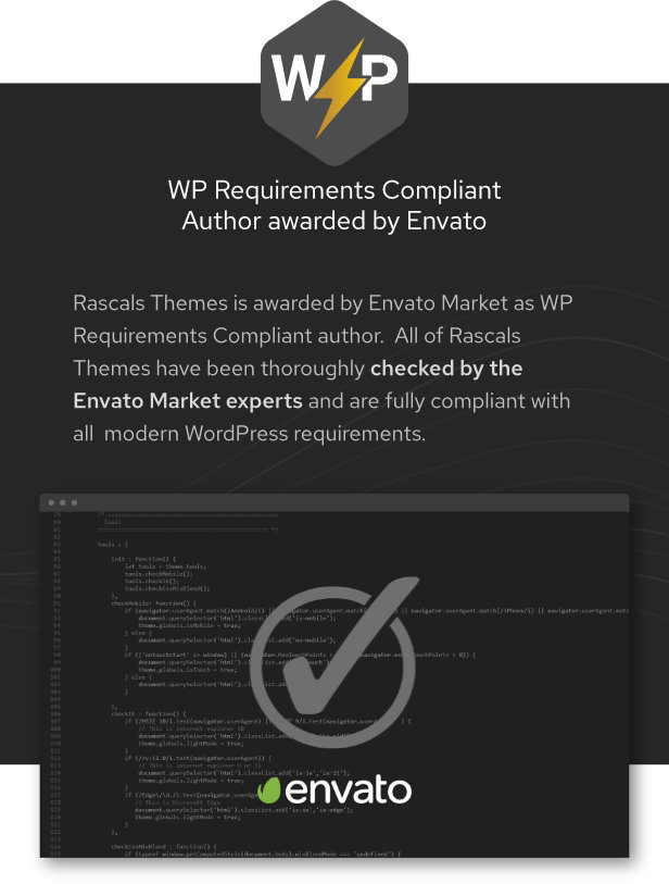 compilant badge - Epron - Music Theme for WordPress