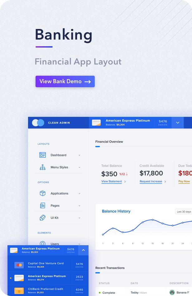 desc bank - Light Admin - Clean Bootstrap 4 Dashboard HTML Template