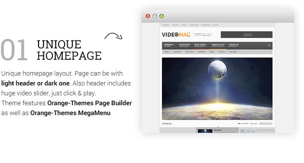 description videomag 7 - VideoMag - Powerful Video HTML Template