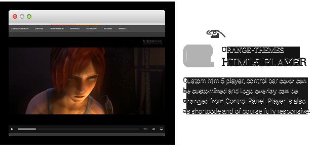 description videomag 8 - VideoMag - Powerful Video HTML Template