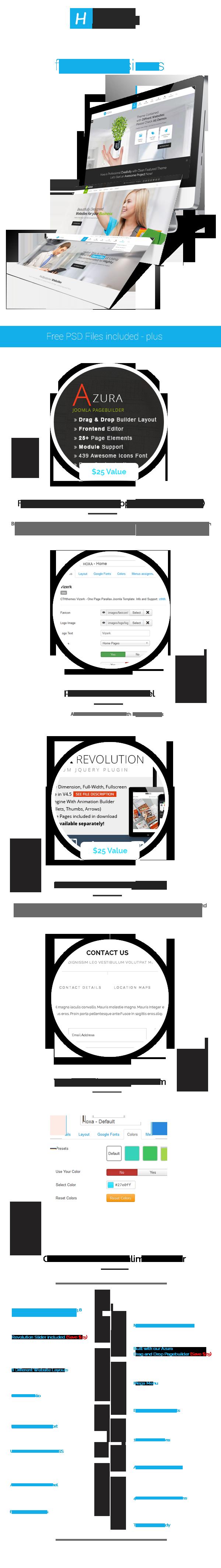 description - Hoxa - Responsive Multipurpose Joomla Template