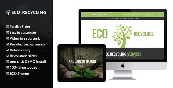 ecorecycling wordpress theme.  large preview - Eco Recycling - Ecology & Nature WordPress Theme