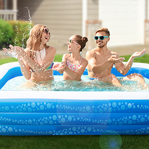 """f2993519 95f4 4e9d bdf1 18d4a04d6ed5.  CR0,0,300,300 PT0 SX300 V1    - Inflatable Pool, Hesung 117"""" X 69""""X 21"""" Family Swimming Pool for Kids, Toddlers, Infant, Adult, Full-Sized Inflatable Blow Up Kiddie Pool for Ages 3+, Outdoor, Garden, Backyard, Summer Swim Center"""