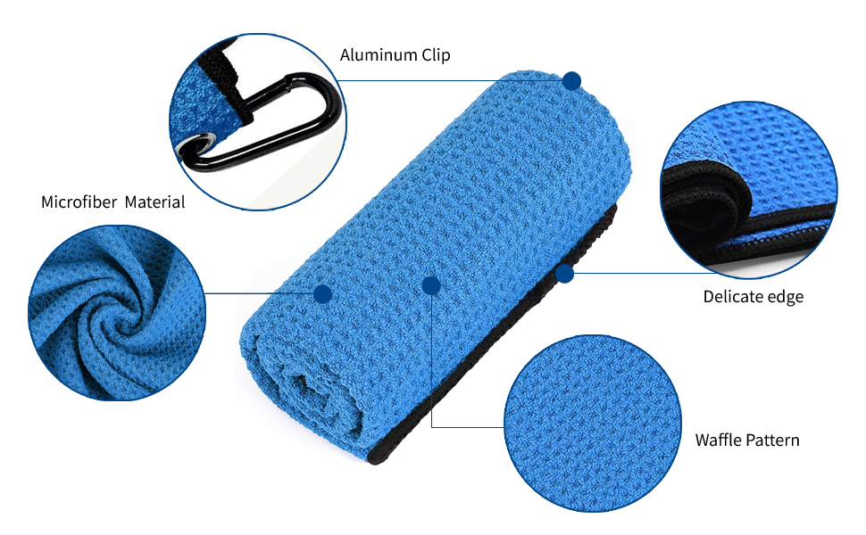 f73bd4d8 134f 40a0 b2b2 86d4cbe62570.  CR0,0,970,600 PT0 SX970 V1    - ToVii Golf Towel Microfiber Waffle Pattern Golf Towel | Brush Tool Kit with Club Groove Cleaner | Golf Divot Tool | Golf Accessories for Men