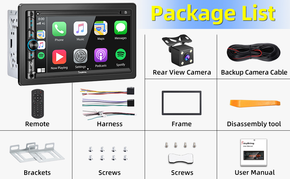 fbbc02a1 ecfe 4880 b2c2 6ac25c2271ff.  CR0,0,970,600 PT0 SX970 V1    - Advanced Double Din Carplay Car Stereo Kit with Voice Control, Mirror-Link Compatible with iOS & Android,Support Backup & Frontview Camera, Bluetooth 5.0, Steering Wheel, AM/FM Car Radio Receiver