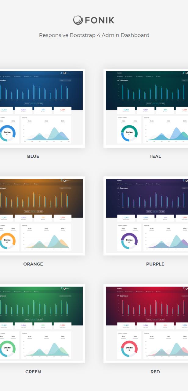 fonik features - Fonik - Admin & Dashboard Template
