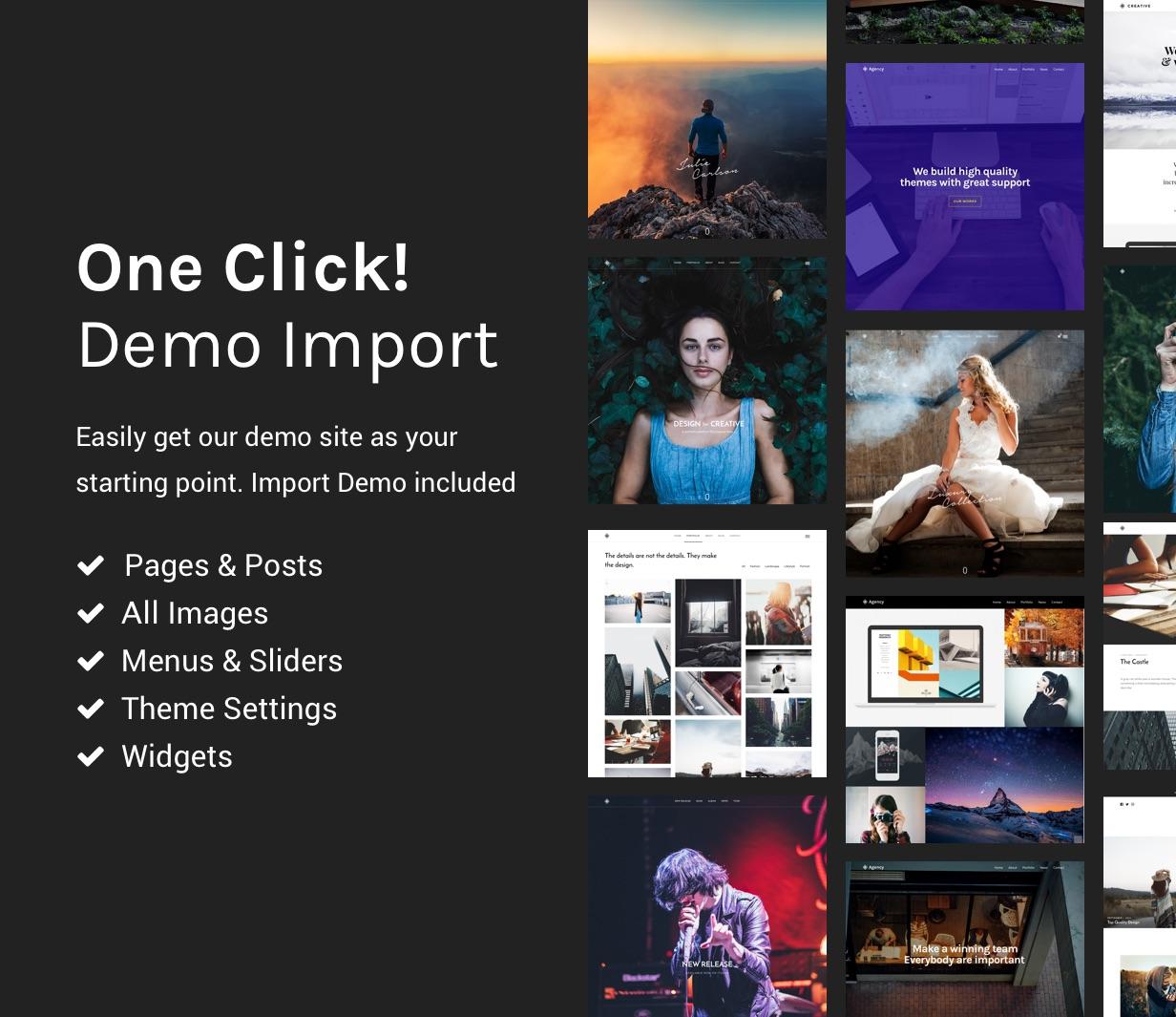 grandportfolio demo import - Grand Portfolio WordPress