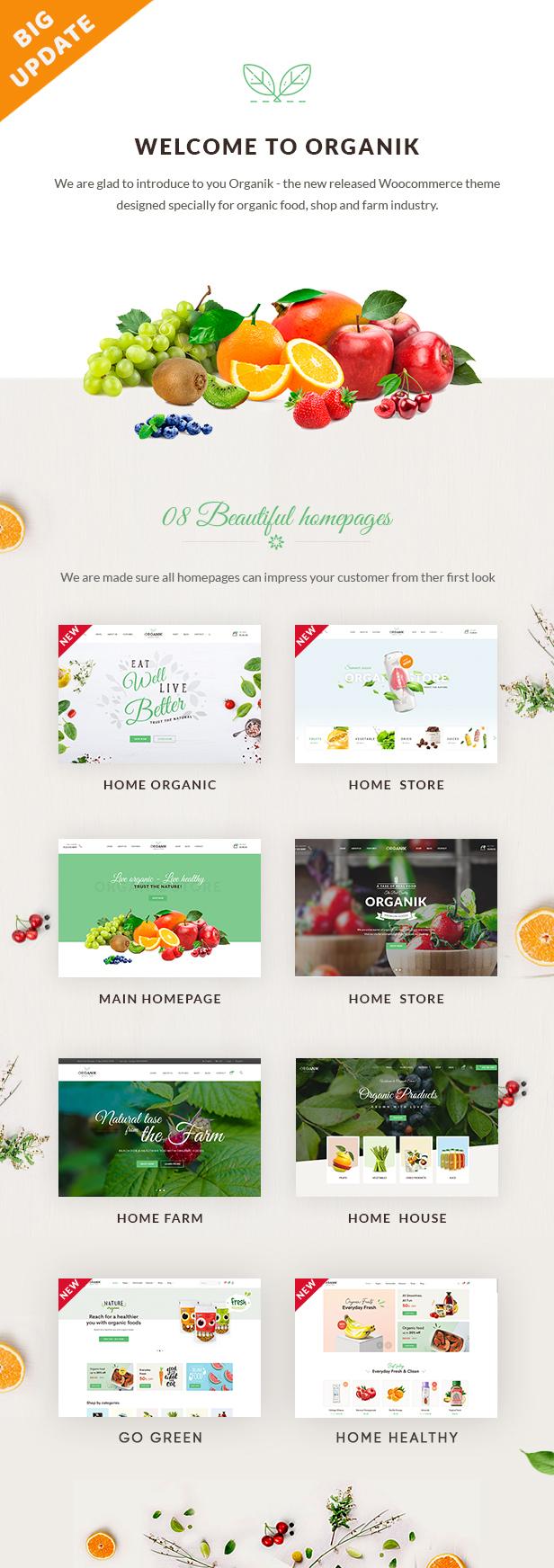 home - Organik - Organic Food Store WordPress Theme