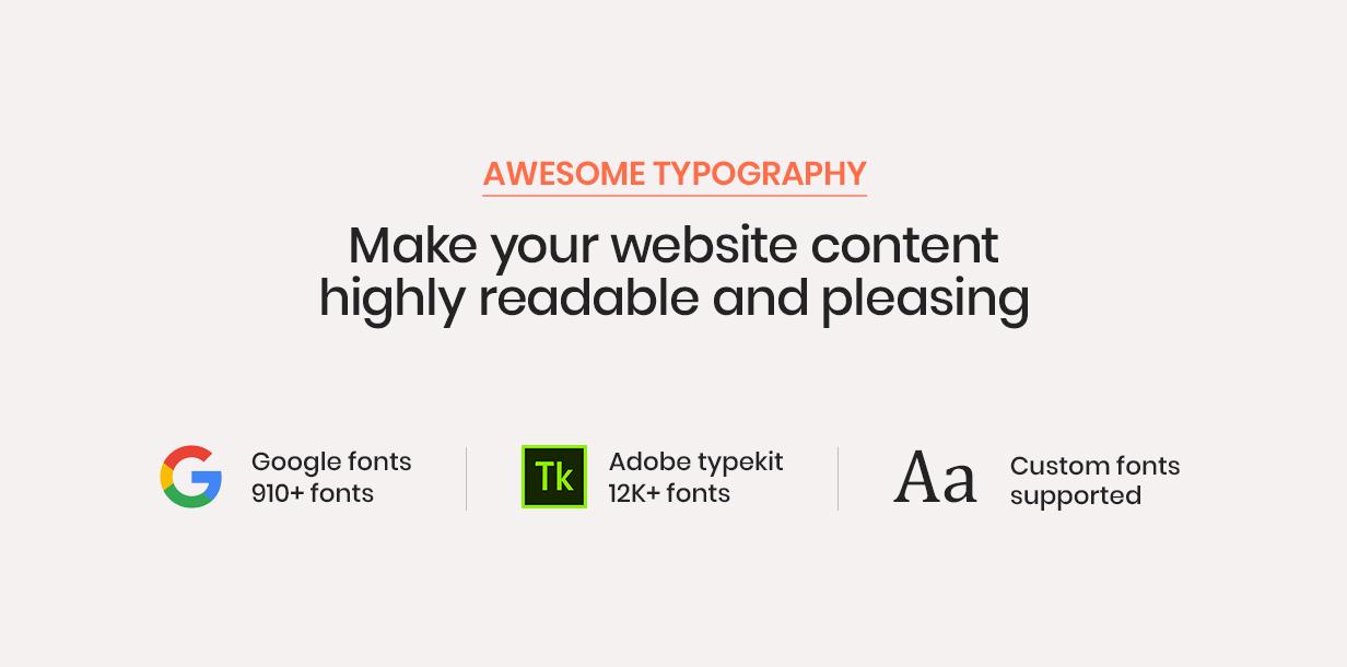 hongo theme awesome typography - Hongo - Modern & Multipurpose WooCommerce WordPress Theme
