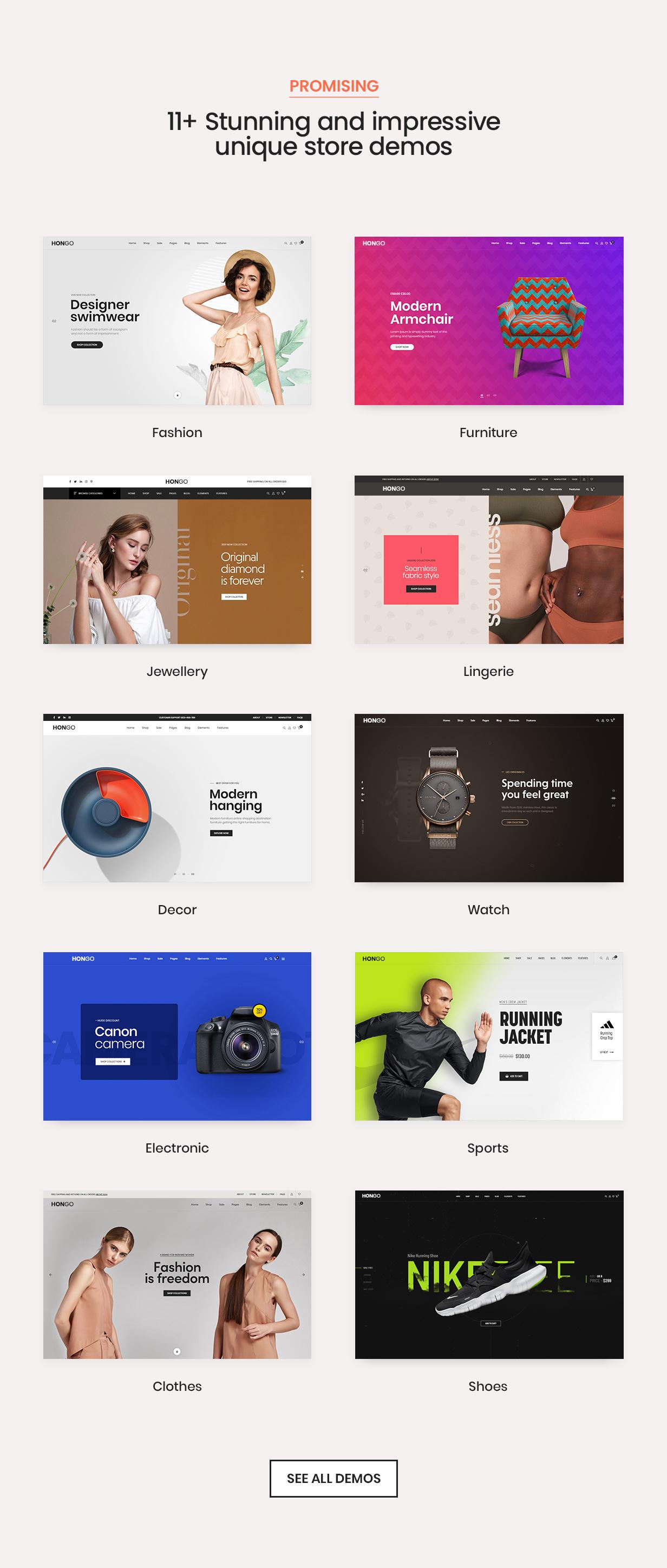 hongo theme store demos new v2 - Hongo - Modern & Multipurpose WooCommerce WordPress Theme
