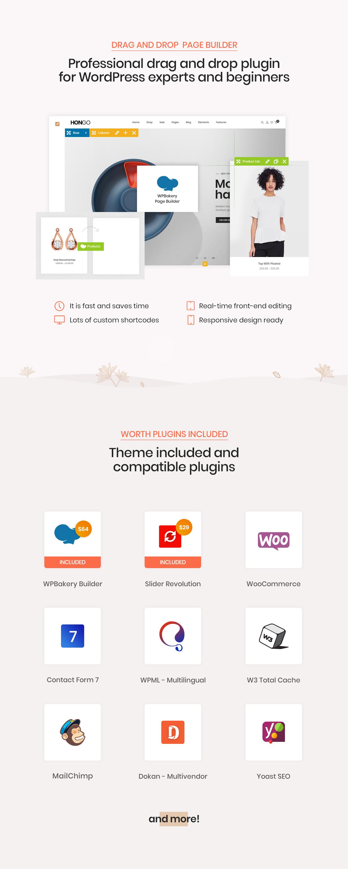 hongo theme wpbakery page builder - Hongo - Modern & Multipurpose WooCommerce WordPress Theme