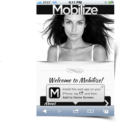 jquery add home bubble - Mobilize - Touch Optimized Mobile Template