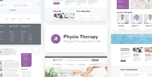 largepreview.  large preview - Physio - Physical Therapy & Medical Clinic WP Theme