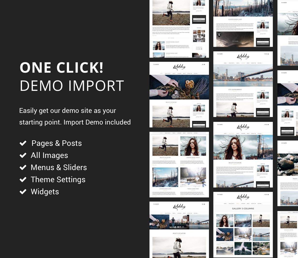 letsblog demo import - Lets Blog WordPress